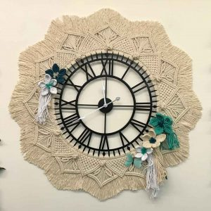 Large Mandala Wall Clock